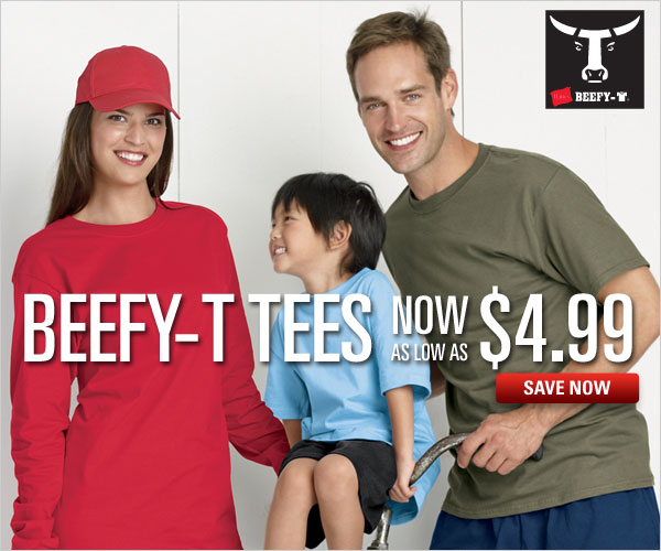 Beefy-T Tees as low as $4.99