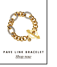 Juicy Couture Pave Link Bracelet.