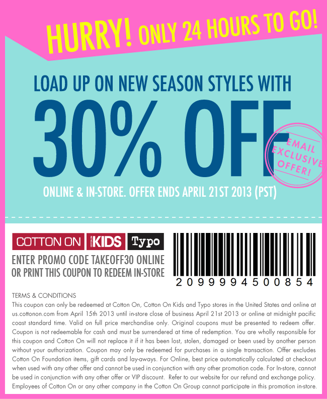 30% off coupon