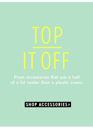 Prom accessories that are a hell of a lot cooler than a plastic crown