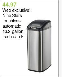 49.97 Web-exclusive! Nine Stars touchless automatic 13.2-gallon trash can. Shop now.