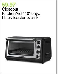 59.97 Closeout! KitchenAid® 10 inch onyx black toaster oven. Shop now.