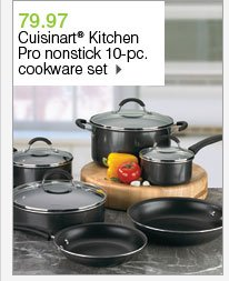 79.97 Cuisinart® Kitchen Pro nonstick 10-pc. cookware set. Shop now.