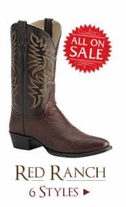 Shop All Mens Red Ranch Boots on Sale