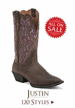 Shop All Womens Justin Boots on Sale