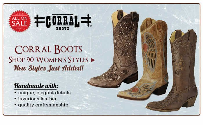 Shop All Womens Corral Boots on Sale