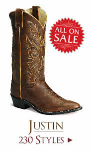 Shop All Mens Justin Boots on Sale