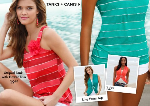 Shop Tanks and Camis