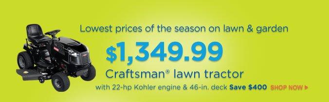 $1,349.99 - Craftsman(R) lawn tractor | SHOP NOW