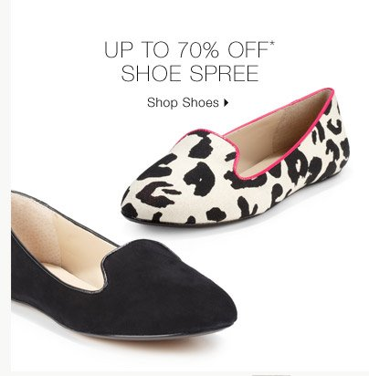 Up To 70% Off* Shoe Spree