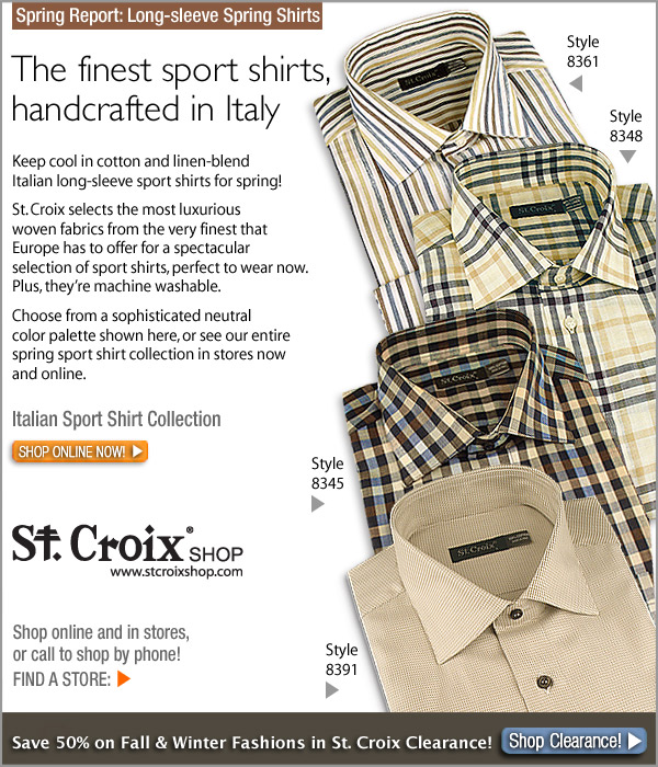St. Croix's Italian Sport Shirts for Spring - Shop Now!