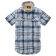 Short Sleeve Harmon Plaid Shirt w/CoolMax® Fabric