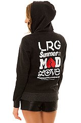 The Mad Love Zip Hoody in Black