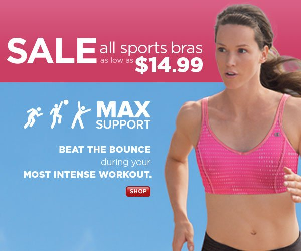 SHOP Sports Bras: All On Sale