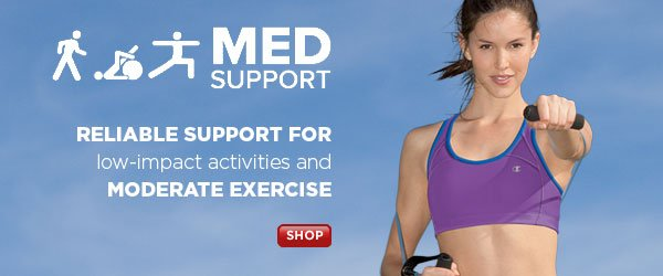 SHOP Med Support Sports Bras on Sale Now!