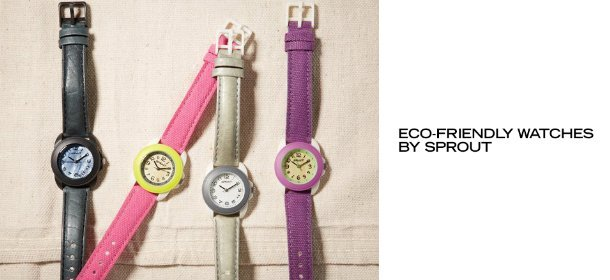ECO-FRIENDLY WATCHES BY SPROUT, Event Ends April 25, 9:00 AM PT >