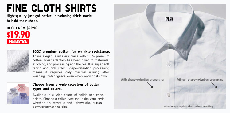 FINE CLOTH SHIRTS