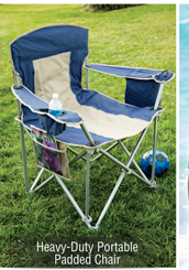 HEAVY-DUTY PORTABLE PADDED CHAIR