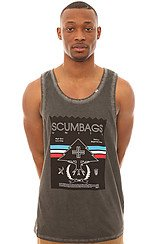 The Scumbags Unite Tank Top in Dark Charcoal