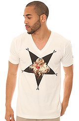 The Cupid's Sin V-Neck Tee in White