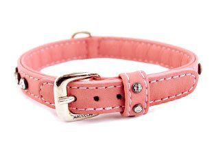 Leather Pet Collars with Swarovski Crystals by Malucchi, Made in Italy
