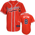 Justin Upton Jersey: Youth Alternate Scarlet #8 Atlanta Braves Replica Jersey