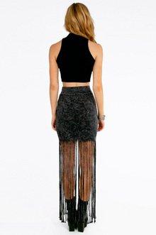 Livin' On The Fringe Skirt $37