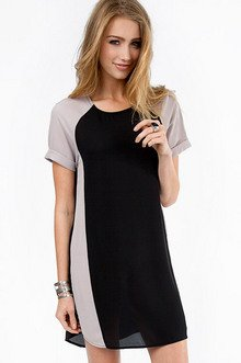 Colorblock And Rock Shift Dress $30
