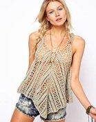ASOS Crochet Village Twisted Swing Vest