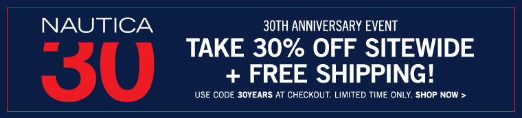 30th Anniversary event. Take 30% off sitewide.
