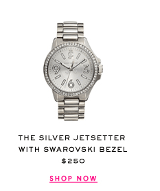 The Silver Jetsetter with Swarovski Bezel Watch at $250. Shop Now.