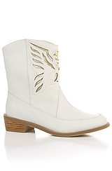 The Thunderbird Boot in White Leather