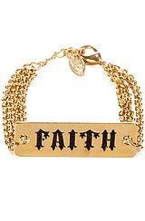 The Faith Statement Plate Triple Chain Bracelet