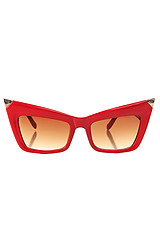 The Fang Tip Sunglasses in Red