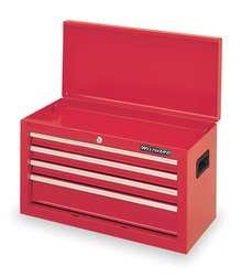 Tool Chest,4 Drawer,26 In,Red