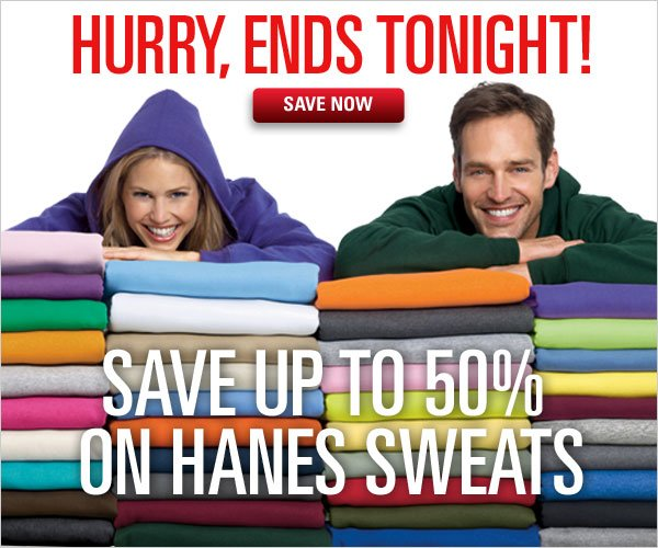 Save up to 50% off Hanes Sweats