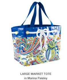 Large Market Tote in Marina Paisley
