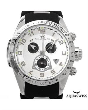 Brand New AQUASWISS Stainless Steel and Rubber Men's Watch