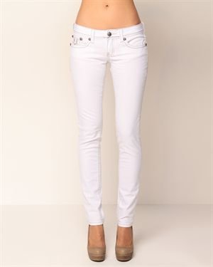 Antique Rivet Rhinestone Pocket Skinny Jeans