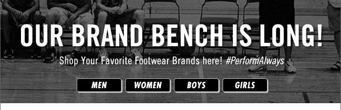 Shop your favorite footwear brands here!