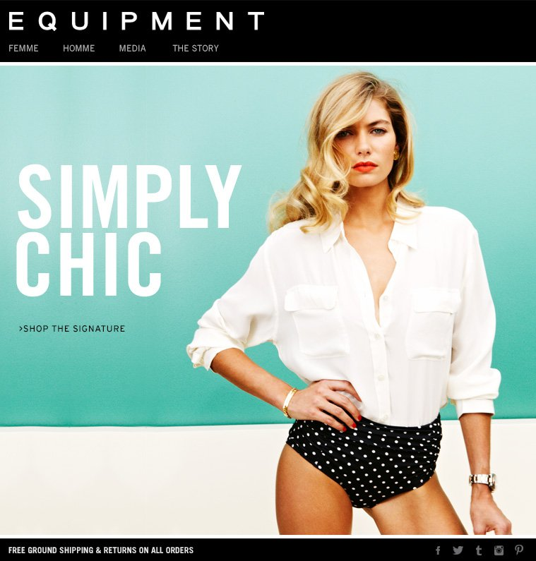 SIMPLY CHIC >SHOP THE SIGNATURE