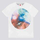 White Nebulonica Print T-Shirt