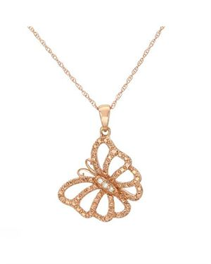 Ladies Necklace Designed In 10K Rose Gold