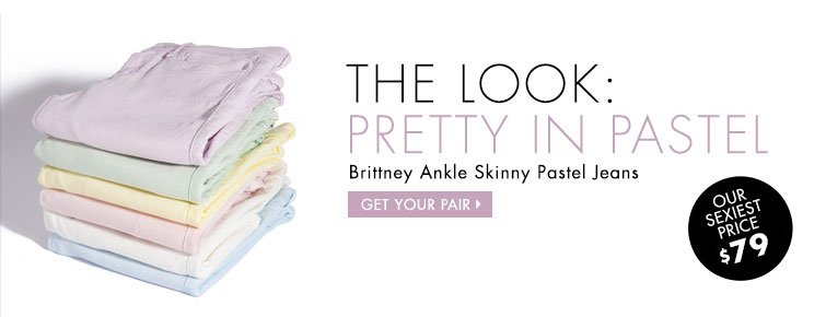Get your Brittney Ankle Skinny Pastel Jeans