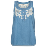 Broderie Chambray Camisole Top