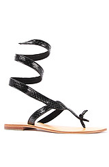 The Snake Ankle Wrap Sandal in Black