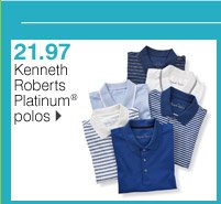 21.97 Kenneth Roberts Platinum® polos. Shop now.