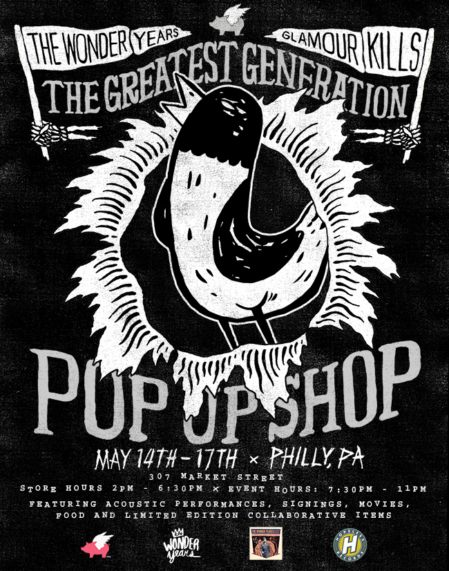 Glamour Kills presents a Pop Shop with The Wonder Years   May 14-17 in Philly, PA