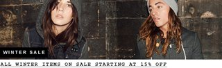 All Winter Items on Sale Starting at 15% Off