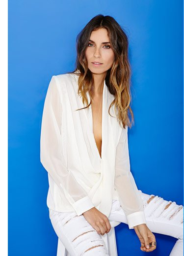Top it off with bright white shirts, tees and blouses in every shape and style